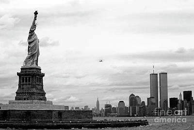 Tourists Visiting The Statue Of Liberty Art Print by Sami Sarkis