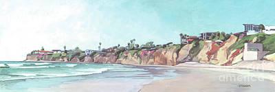 Plein Air Painting - Tourmaline Surf Park, Pacific Beach, San Diego, California by Paul Strahm
