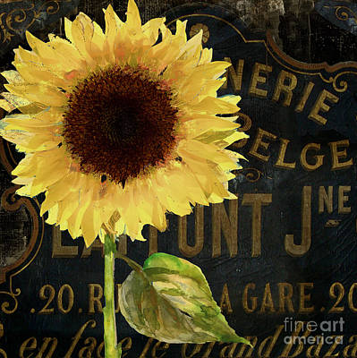 Gerbera Painting - Tournesols Yellow Sunflowers by Mindy Sommers