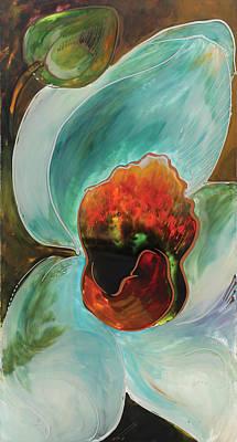 Painting - Tourqoise Orchid by Vali Irina Ciobanu
