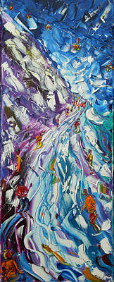 Painting - Toviere Tignes by Pete Caswell