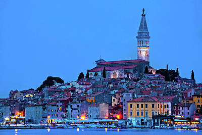 Photograph - Tovn Of Rovinj Bluer Hour View by Brch Photography