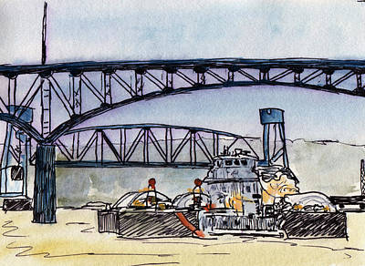 Mixed Media - Tow At Peoria Illinois by R Kyllo