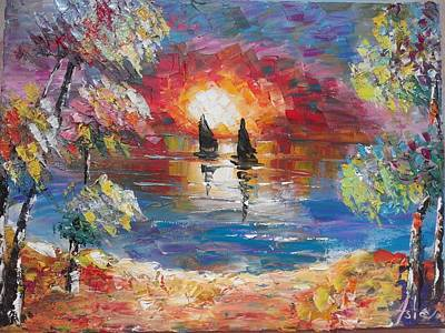 Painting - ''tow Boats'' by Asia Dzhibirova
