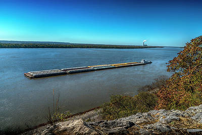 Photograph - Tow On The Mississippi 7r2_dsc2287_16-11-13 by Greg Kluempers