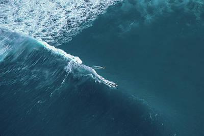 Tow Surf - Sunset Beach Art Print by Sean Davey