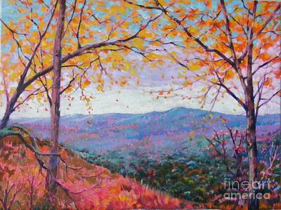 Painting - Toward Blue Ridge by Celine  K Yong