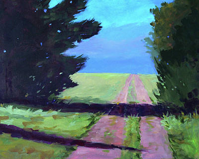 Painting - Toward The Endless Prairie by Nancy Merkle