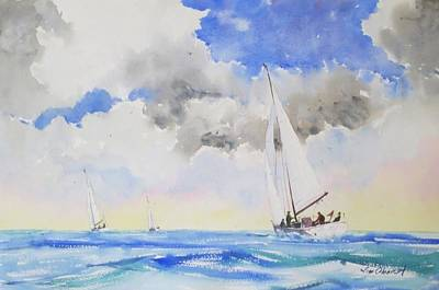 Oberst Painting - Toward The Horizon by Jim Oberst