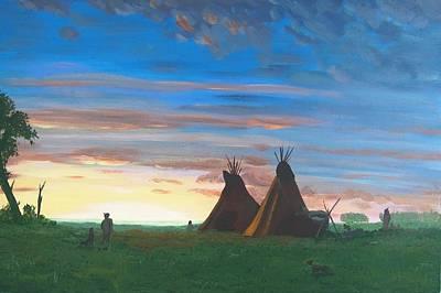 Toward The Setting Sun Original by Glenn Harden