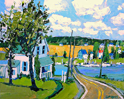 Anne Of Green Gables Painting - Towards Anne Of Green Gables by Brian Simons
