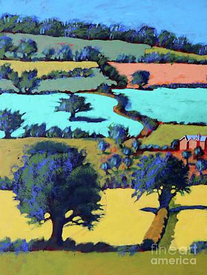 Farm Building Painting - Towards Ledbury II by Paul Powis