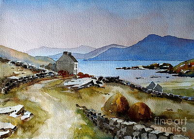 Painting - F 806  Towards Meelrea From Inisboffin by Val Byrne