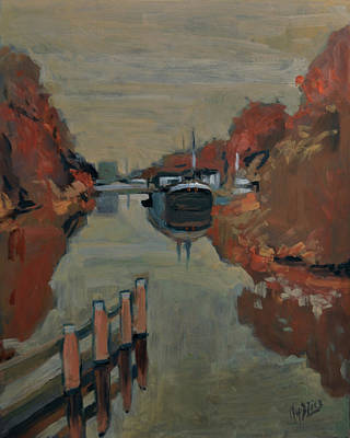 Holland Painting - Towards Pius Harbour by Nop Briex