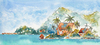 Painting - Towards Raititi Point by Pat Katz