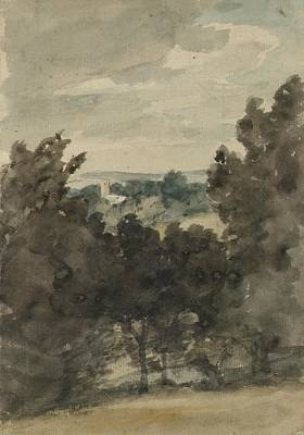 Stratford Painting - towards Stratford St Mary Church by John Constable