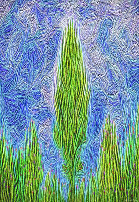 Digital Art - Towards Celestial Realms - Flora Abstract by Joel Bruce Wallach