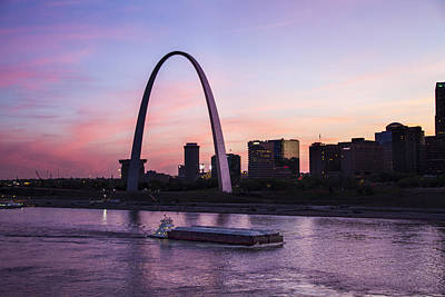 Photograph - Towboat In Front Of The Arch by Garry McMichael
