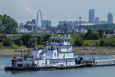 Photograph - Towboat In The Chain Of Rock Canal by Garry McMichael