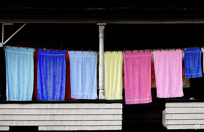 Photograph - Towel Line Stark New Hampshire by Wayne King