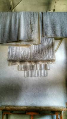 Photograph - Towels And Sheets by Isabella F Abbie Shores