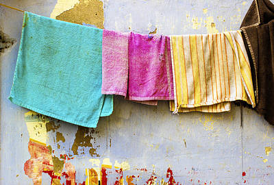 Towels Drying Photograph - Towels Galore by Prakash Ghai
