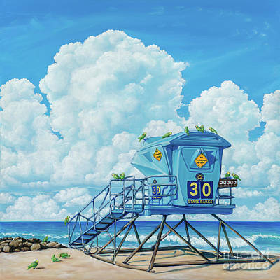 Amazon Parrot Painting - Tower 30 Morning Patrol by Elisabeth Sullivan