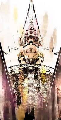 Tower Abstract Art Print by Tom Gowanlock