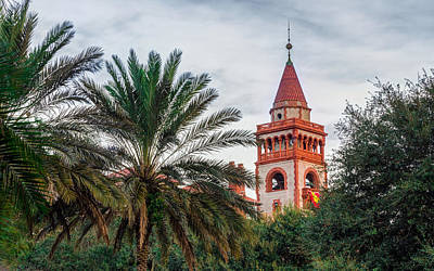 Brick Schools Digital Art - Tower At Flagler College by Rob Sellers