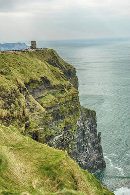 Photograph - Tower At The Cliffs Of Moher by Marie Leslie