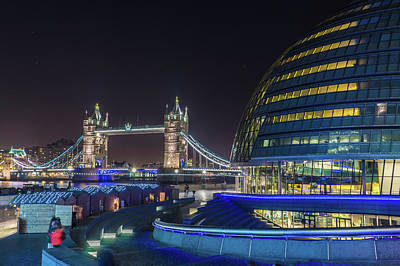 Photograph - Tower Bridge And City Hall by James Billings