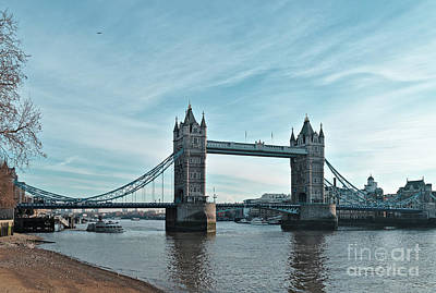 Photograph - Tower Bridge And Low Tide In London by Angelo DeVal