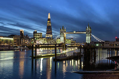 Photograph - Tower Bridge And Shard by Matt Malloy