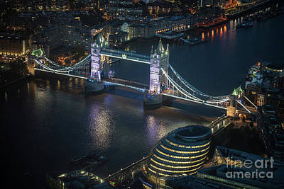 Photograph - Tower Bridge At Night From The Shard by Mike Reid