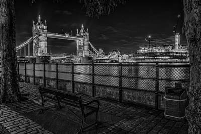 Photograph - Tower Bridge At Night by Gary Lengyel