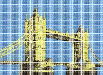 Tower Bridge - Blue Original by Gary Hogben