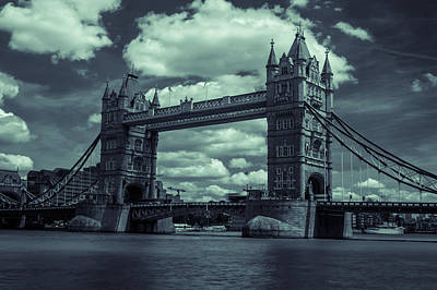 Photograph - Tower Bridge Bw by Jacek Wojnarowski