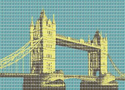 Tower Bridge - Dark Blue Original by Gary Hogben