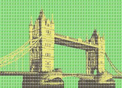 Tower Bridge - Green Original by Gary Hogben