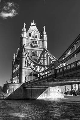 Photograph - Tower Bridge In Black And White by Chris Day