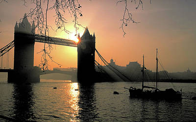Photograph - Tower Bridge In London At Sunset by Carl Purcell