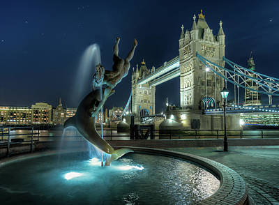 Tower Bridge In London Art Print by Vulture Labs