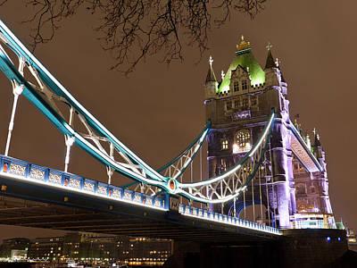 Tower Bridge Lights Print by Rae Tucker
