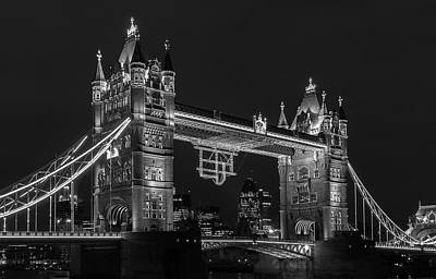 Photograph - Tower Bridge, London At Night by Prithvi Mandava