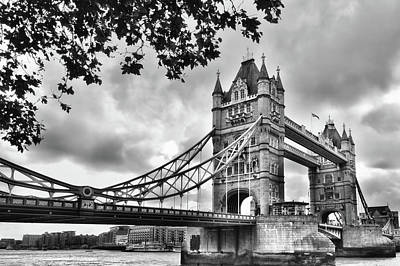 Photograph - Tower Bridge London Side View by Mihaela Pater