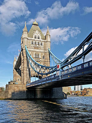 Photograph - Tower Bridge London Vertical by Gill Billington