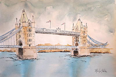 Painting - Tower Bridge by Marilyn Zalatan