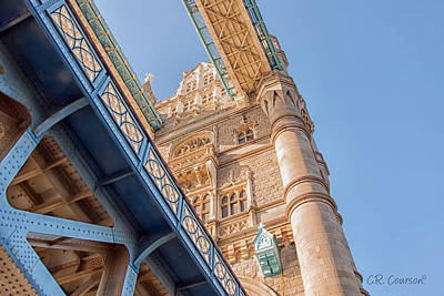 Photograph - Tower Bridge Perspective by CR  Courson