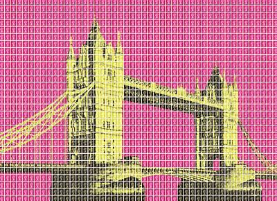 Tower Bridge - Pink Original by Gary Hogben
