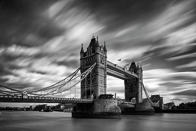 Bridges Photograph - Tower Bridge, River Thames, London, England, Uk by Jason Friend Photography Ltd